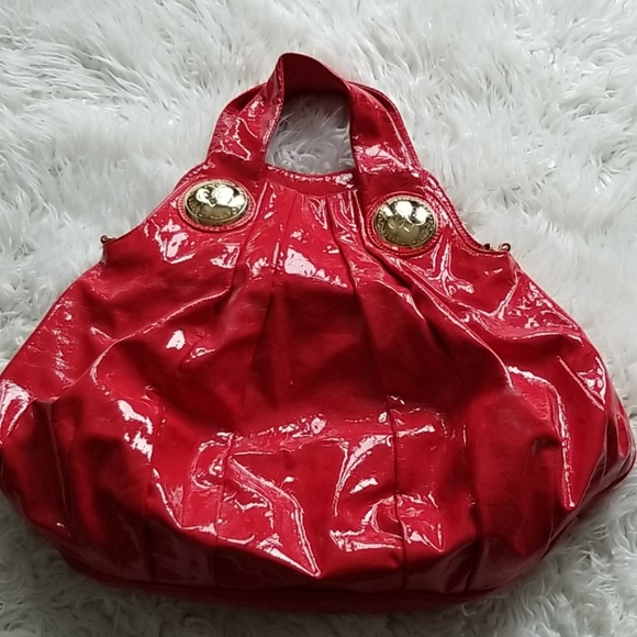Dereon, large cherry red spacious tote bag